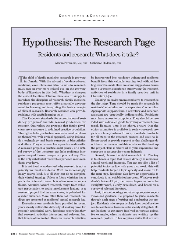hypothesis paper research testing