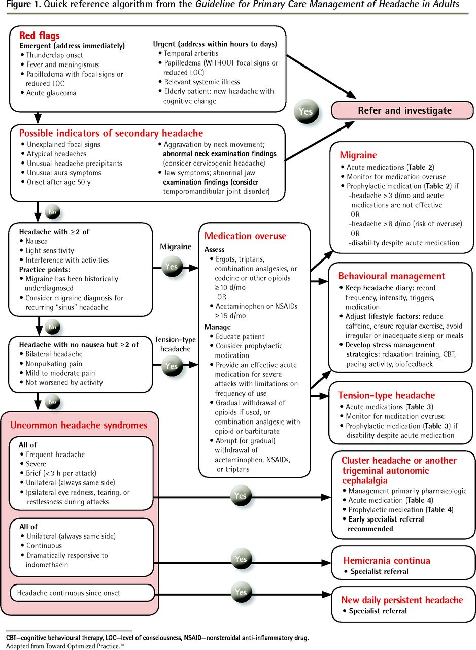 Guideline For Primary Care Management Of Headache In
