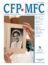 Canadian Family Physician: 63 (4)